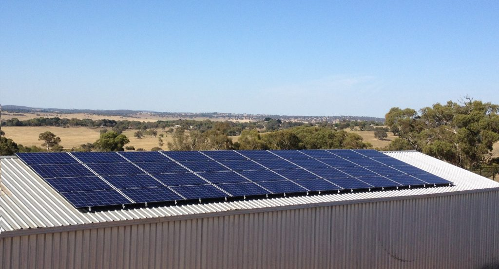 NRRE Goulburn rooftop solar pv installation