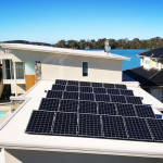 delta electrical solar modules on white roof