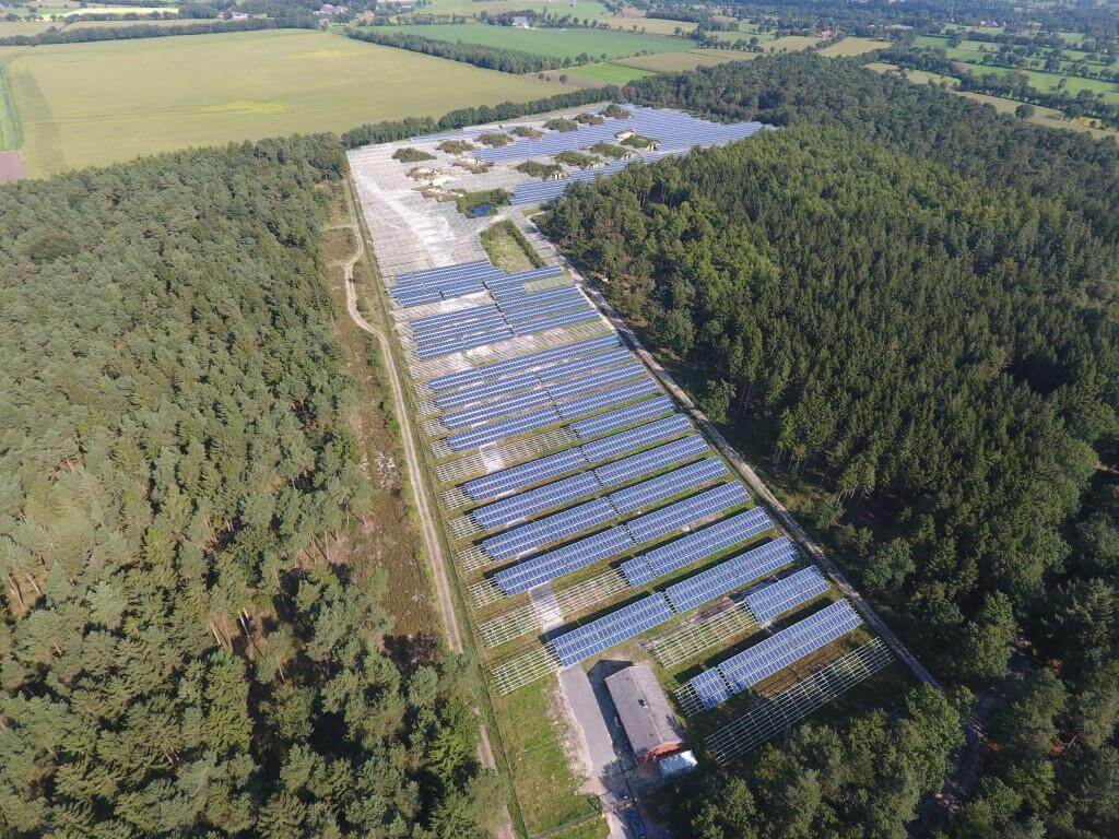 2.2 MW ground mount utility solar installation in Germany