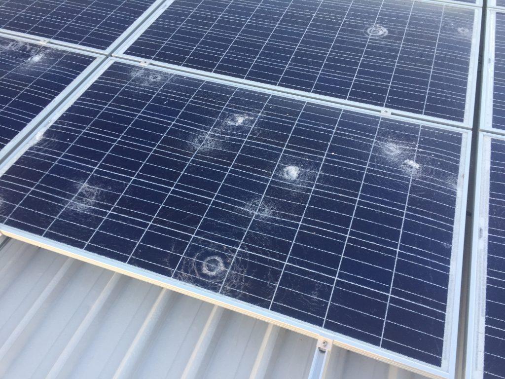 hail damage solar panel