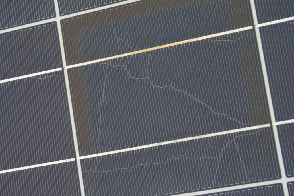 common solar panel defects snail trail