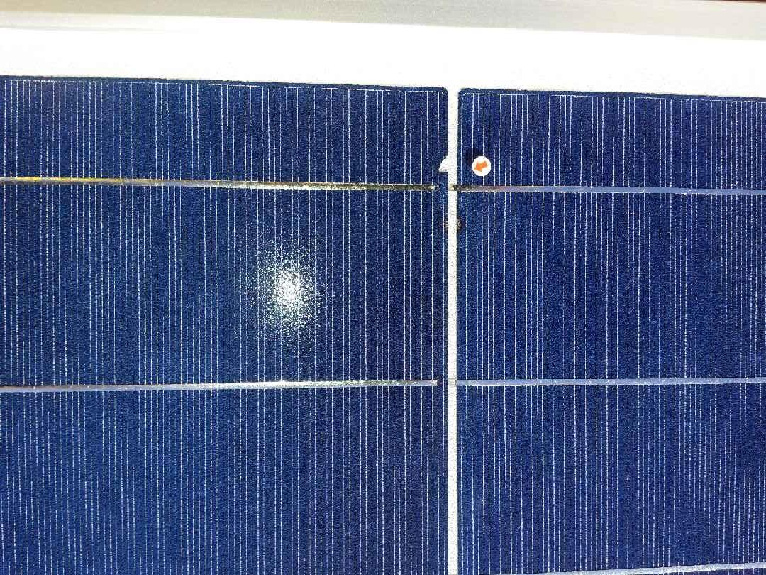 cracked solar cells