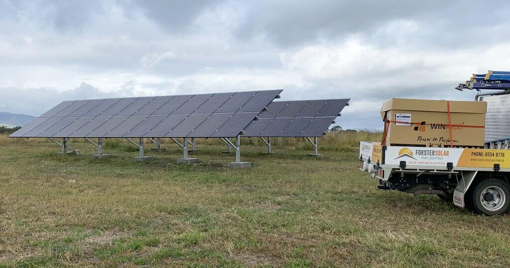 forster solar and lighting truck WINAICO panel
