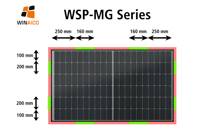 WSP-MG Clamping Zones