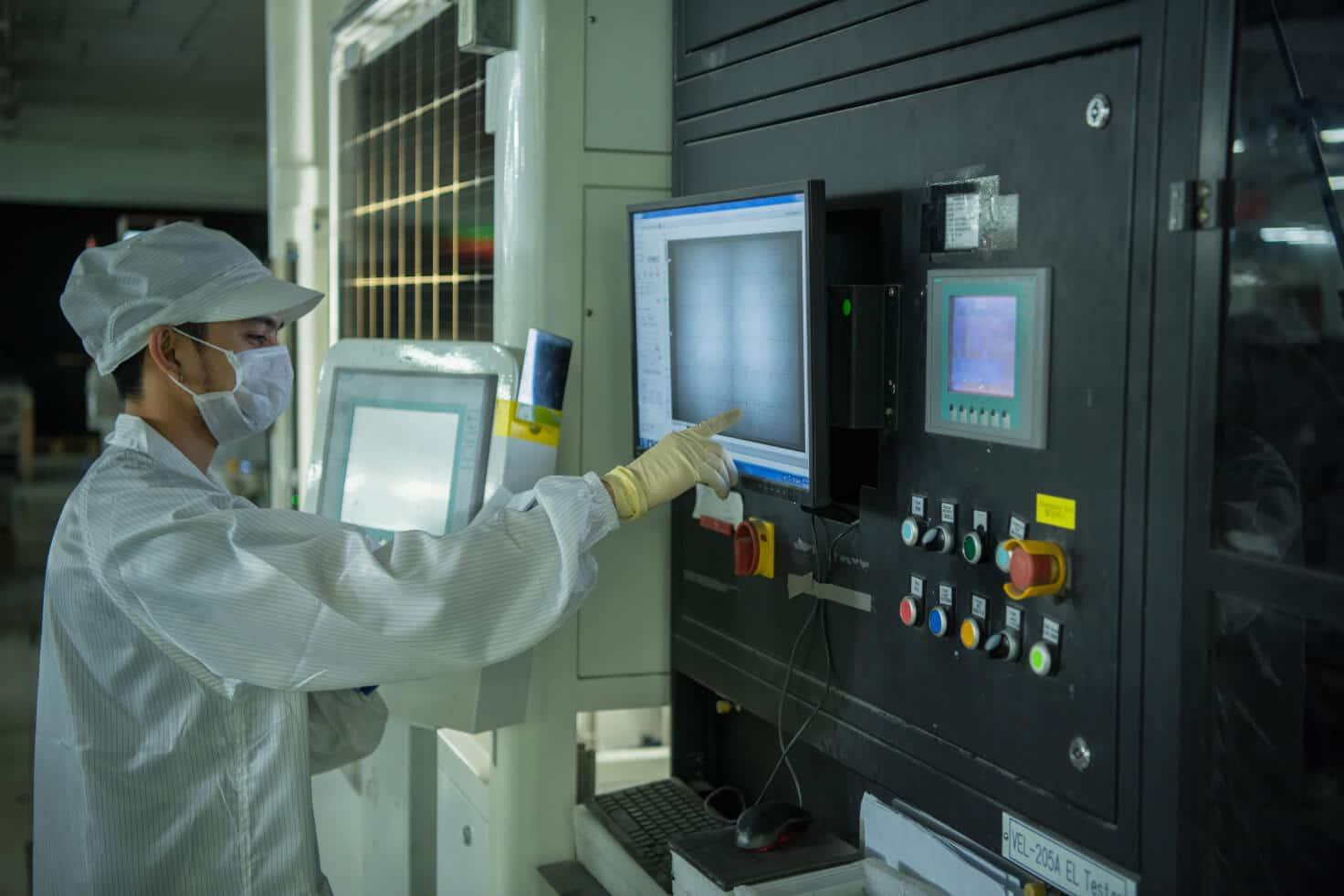 solar panel EL inspection