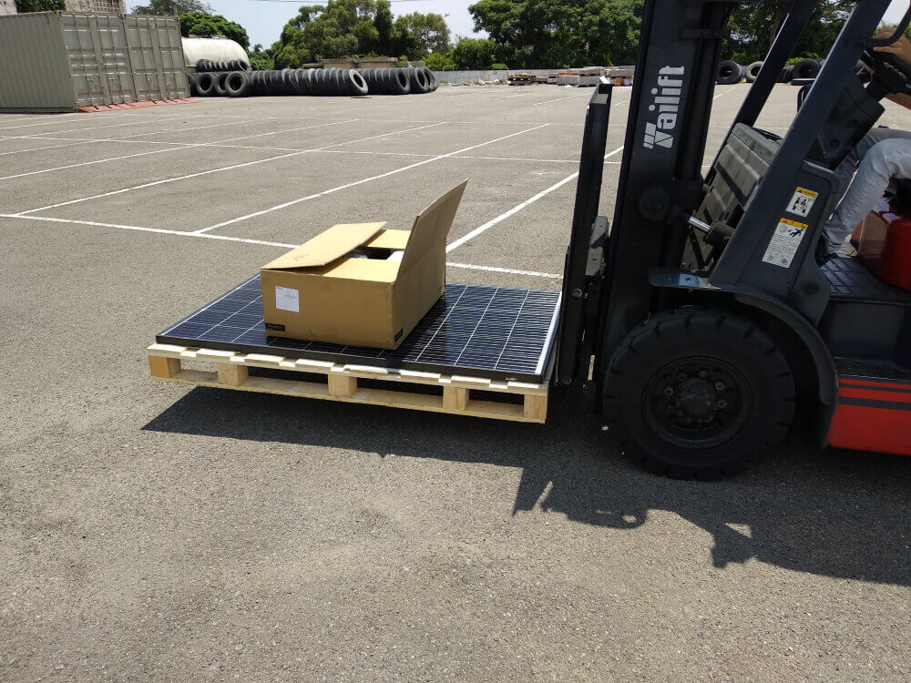 transport inverter on solar panel