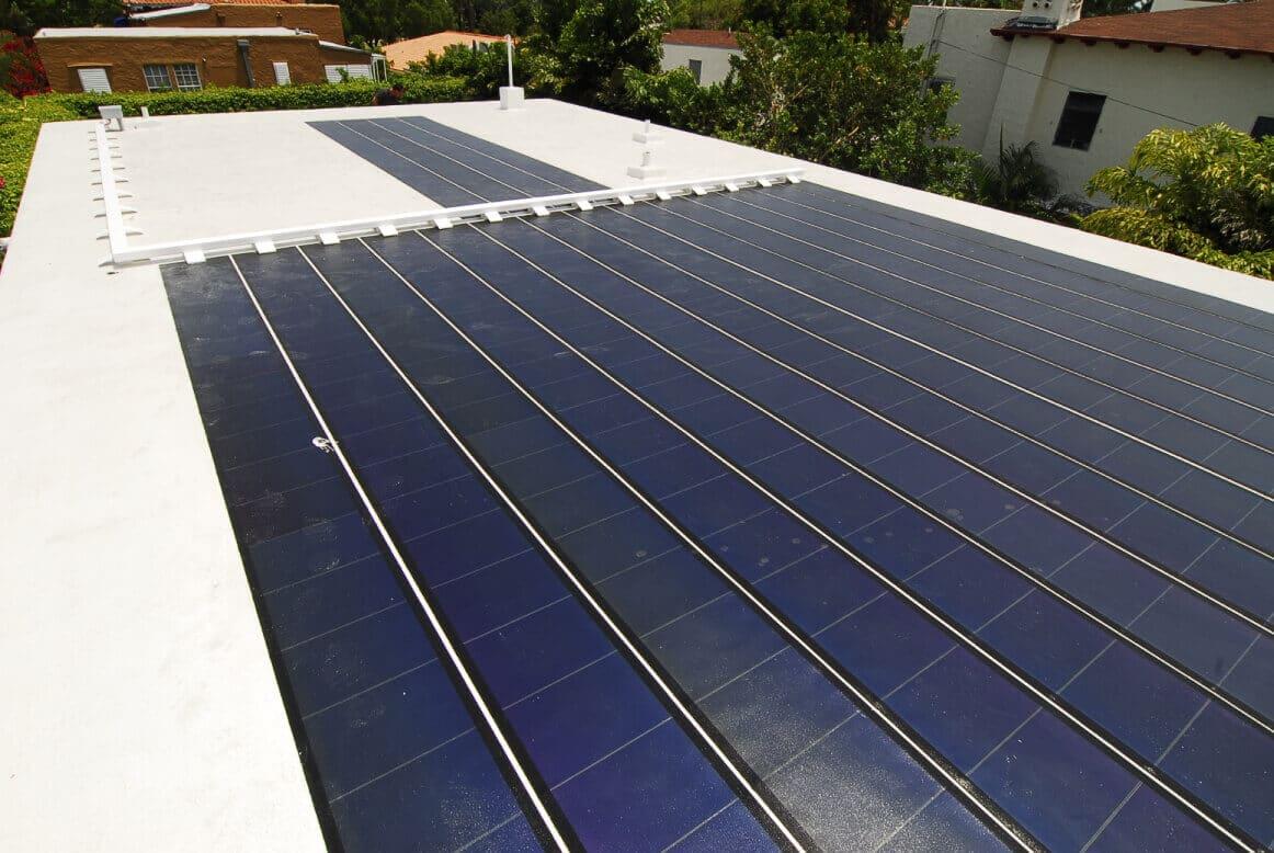 thin film solar installation
