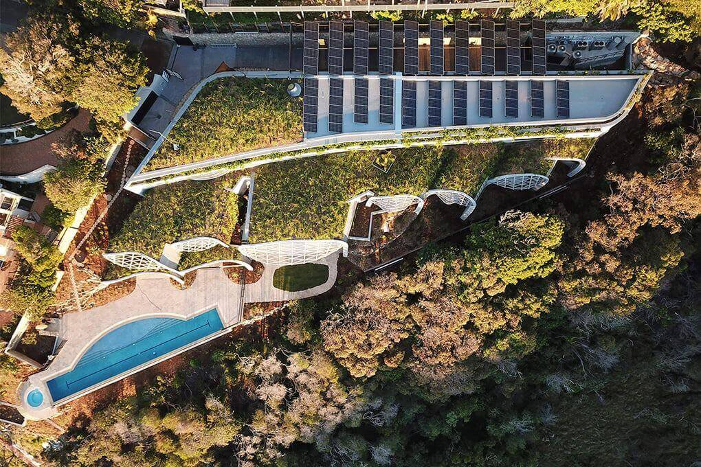 monocrystalline solar installation on a mansion in Sunshine Beach, Australia