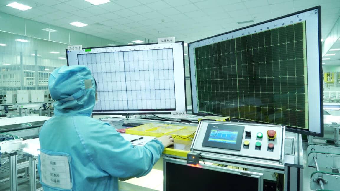 pre EL solar module