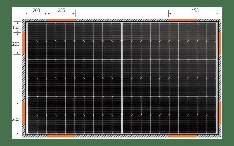 solar panel clamping zones
