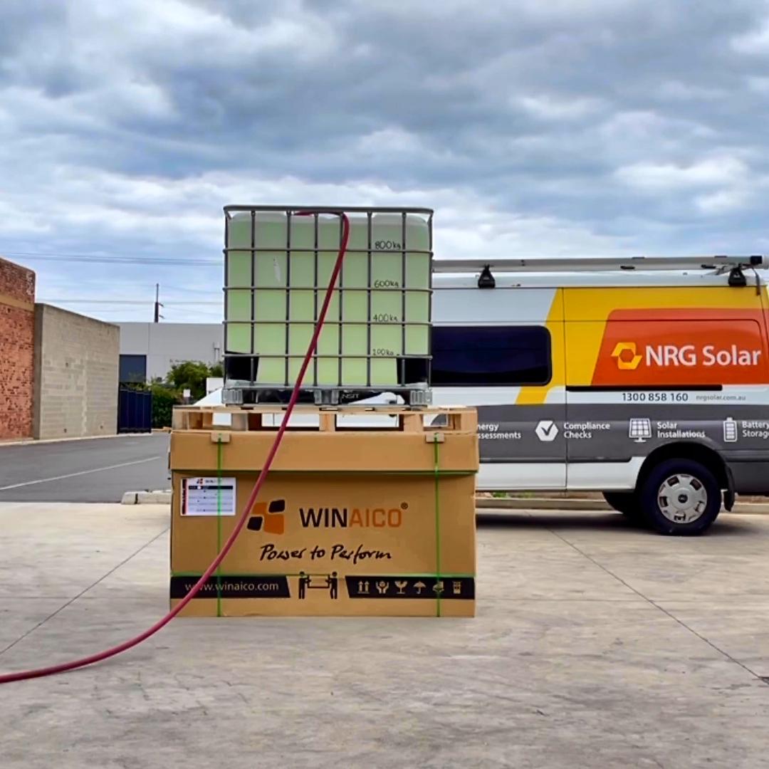 Empty WINAICO Solar Box with 1 Ton of weight